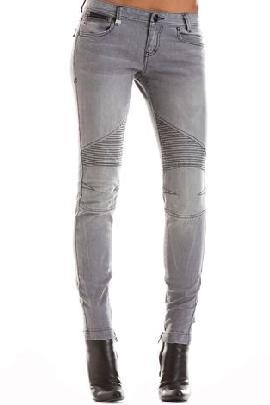 J11 - Grey Moto Skinny Fit Jeans