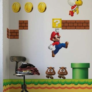 blik New Super Mario Brothers Wall Stickers