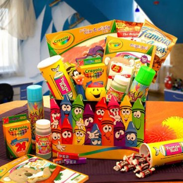 Crayons Gift Basket  -Gift Basket Ideas For Kids