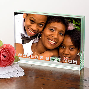 Engraved Glass Photo Block
