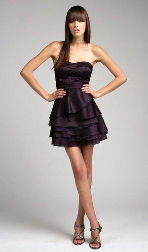 Strapless Short Prom Dress