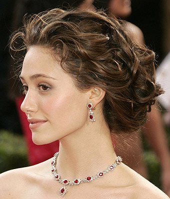 Curly Updo Elegant Look Elegant updos is suitable for women whose texture