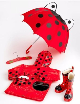 Kidorable Ladybug Rain Collection