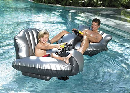 Motorized Bumper Boat with Water Cannon