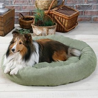 Paw Appeal Chenille Round Dog Bed