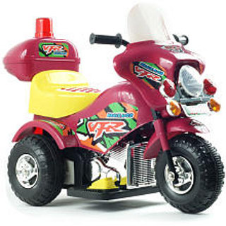 Harley Style Motorcycle Battery Operated Maroon Red