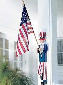 Uncle Sam Flag Holder with Flag