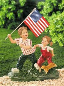 Young Patriots Resin Figurine