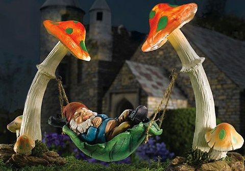 Solar Gnome Garden Sculpture