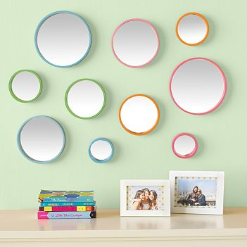 Bubble Dot Mirror Set