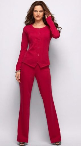 Seamed Double Knit Pantsuit