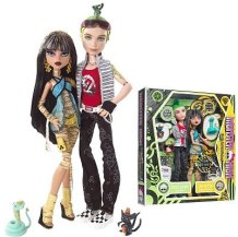 monster high doll gift set - cleo de nile and deuce gorgon
