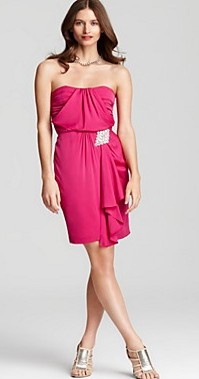 ali-ro-strapless gathered dress