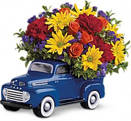 teleflora's ford pickup bouquet